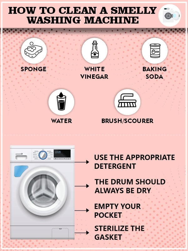 how to clean smelly washing machine top loading