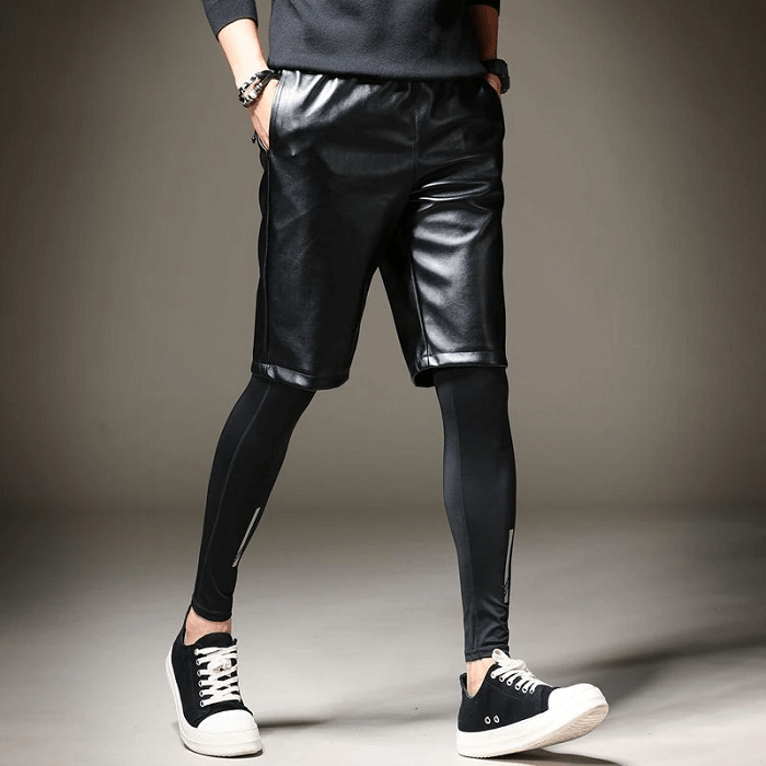 leather shorts for men