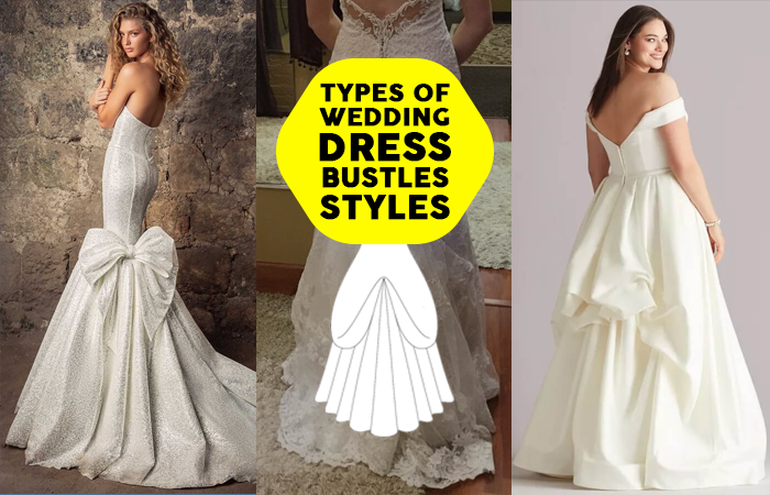 wedding dress bustle before and after