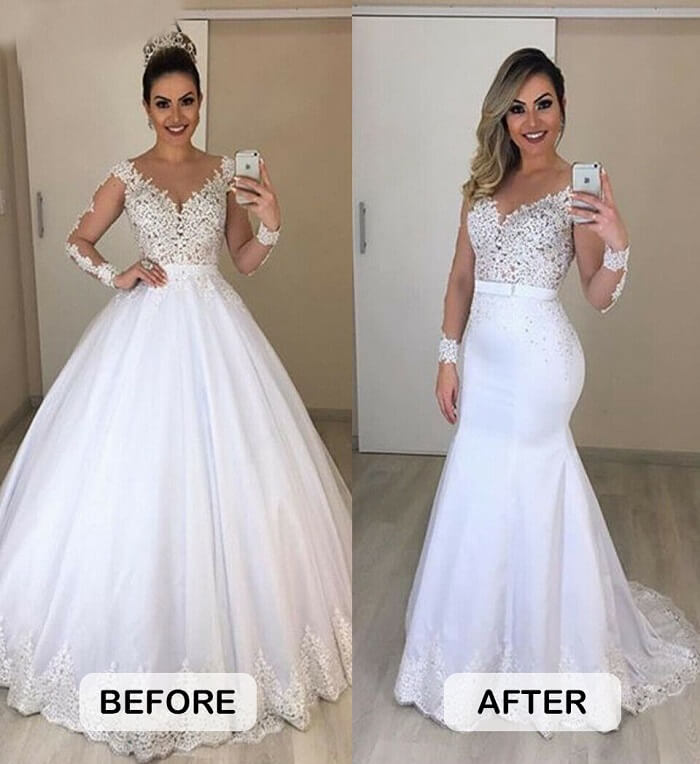 Wedding gown alterations price list