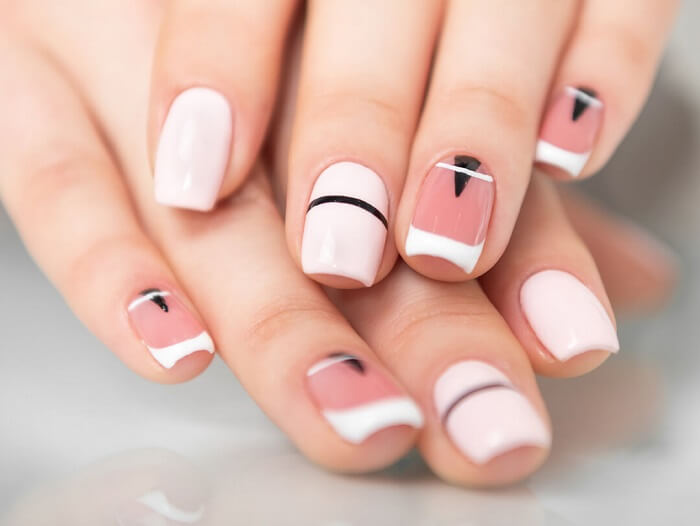 french manicure acrylic price