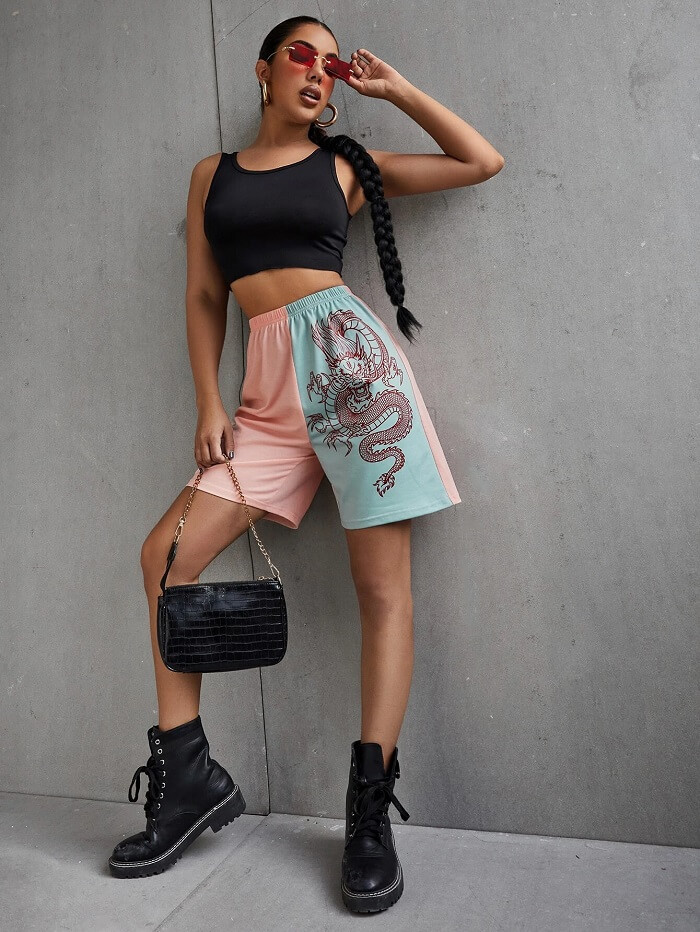 printed shorts for women