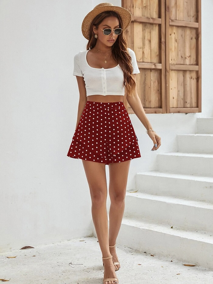 High-Waisted Womens Pull-On Shorts