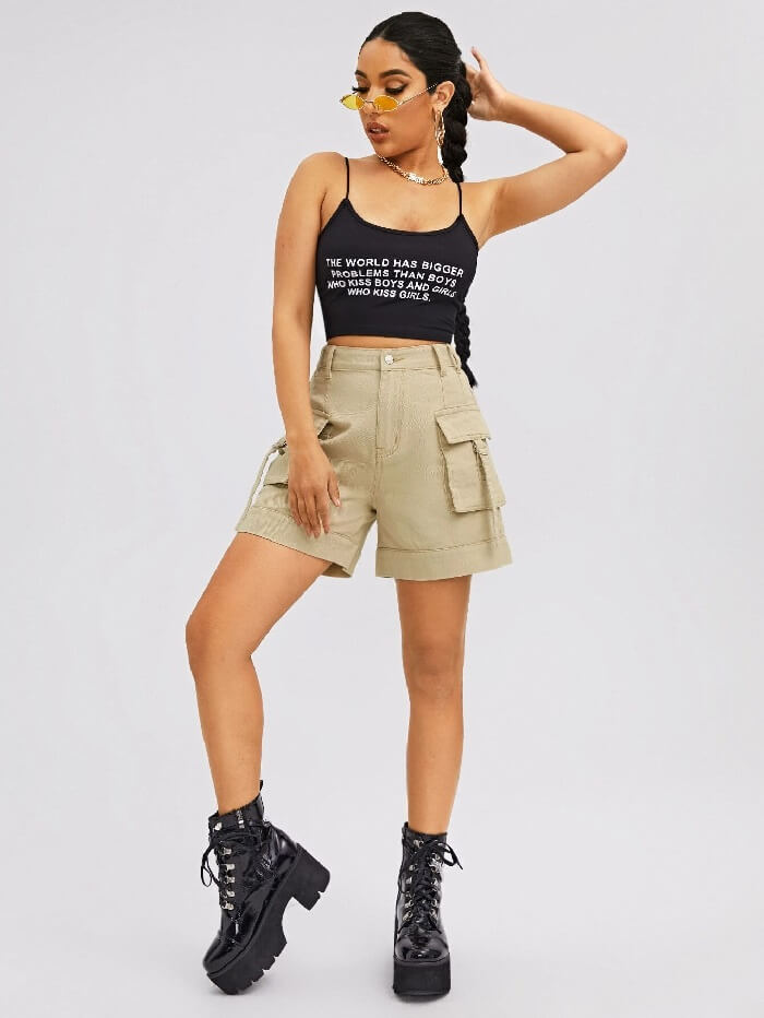 women's knit shorts with elastic waist