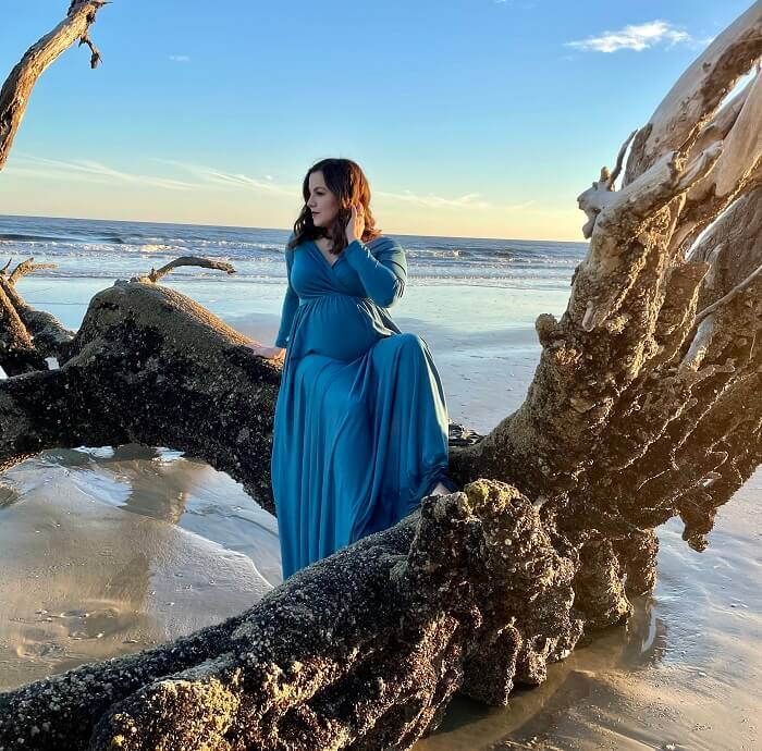 Maxi Gowns For Maternity Photoshoot