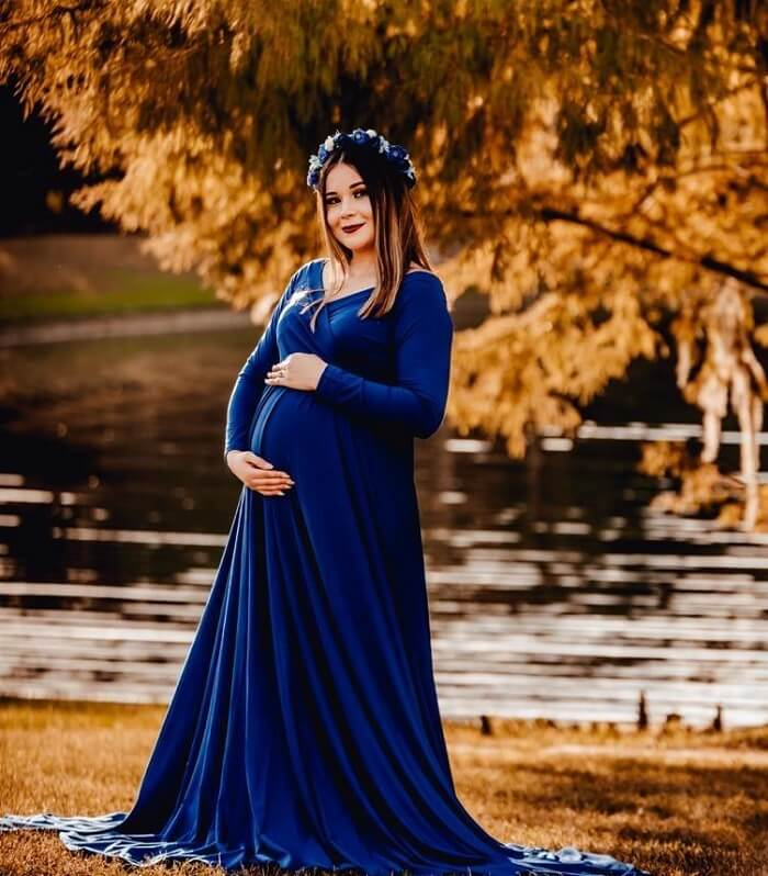 Fancy Pregnancy Gown for Baby Shower Photo Shoot