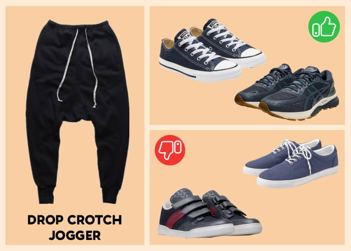 What shoes go with dressy jogger pants?