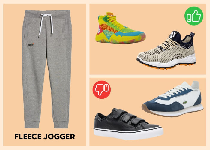 fashion sneakers with hiphop joggers