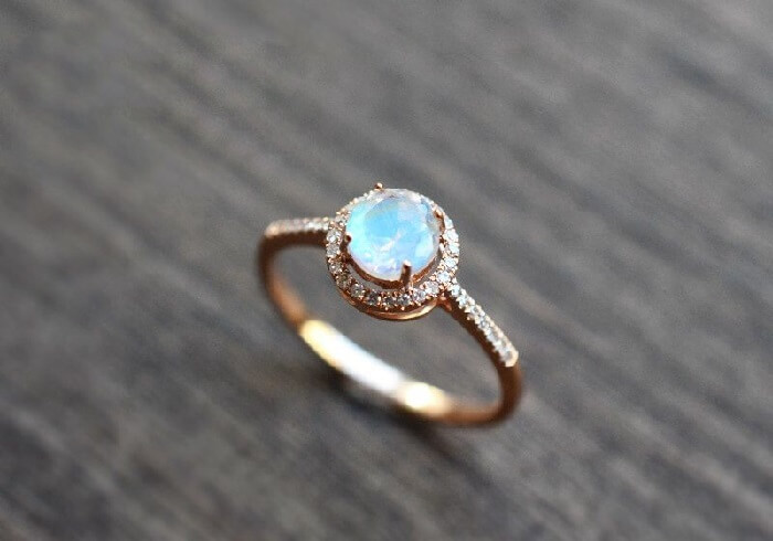 moonstone engagement ring with diamonds