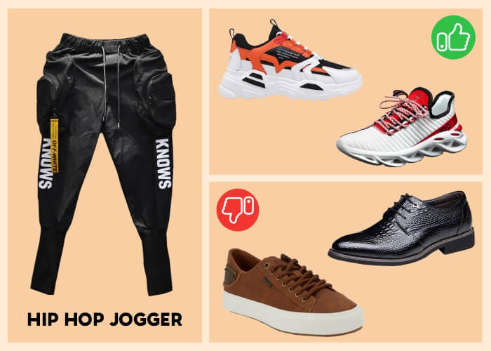 What shoes look best with joggers?