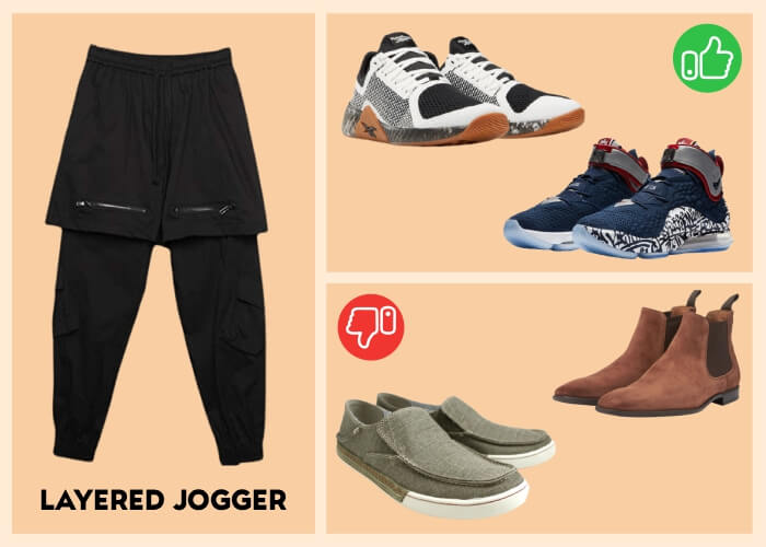 joggers with dress shoes