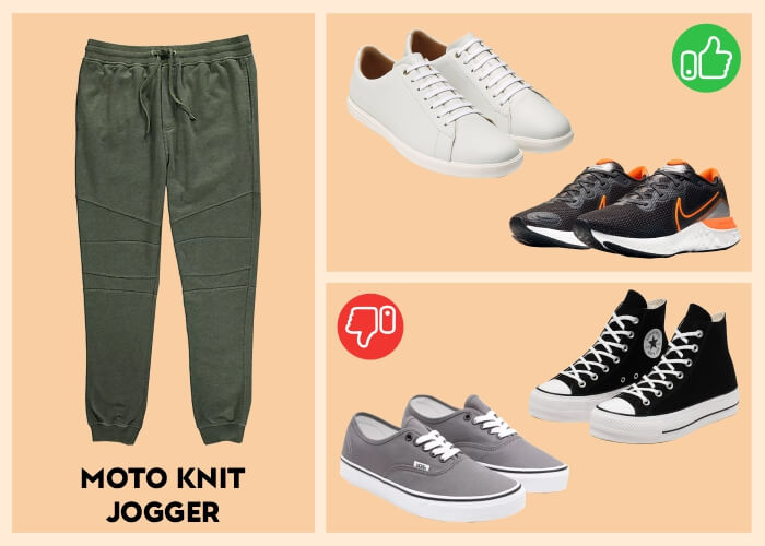 What kind of shoes look best with joggers?