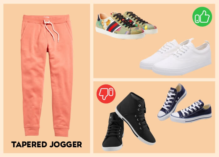 What sneakers look good with joggers?