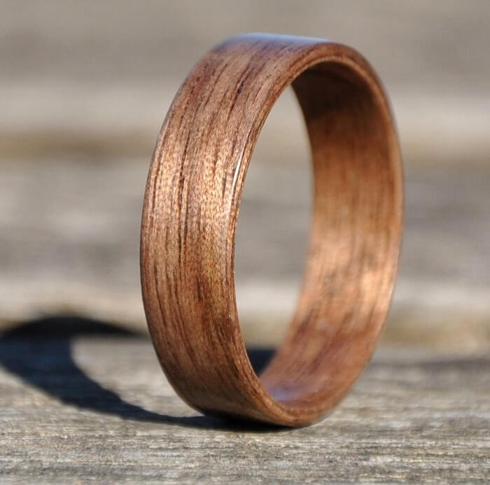 wooden couple ring