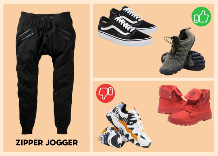 what shoes to wear with jogger pants