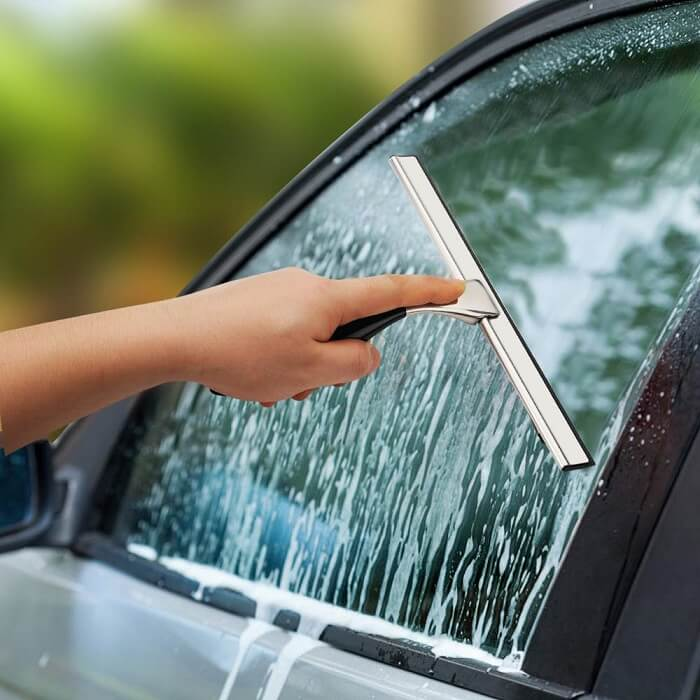 shower squeegee for car windshield