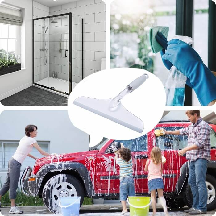 shower squeegee with hook