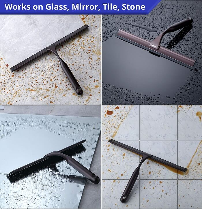 shower squeegee with holder