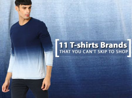 Top 11 T-shirts Brands for Men to Buy online in India