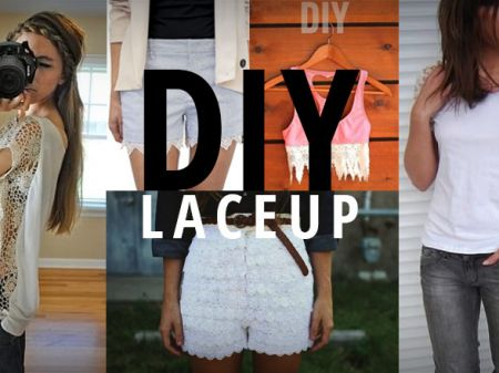 13 DIYs To Lace Up Your Outfits And Wear Them Again