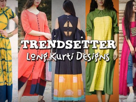 50 Long Kurti Designs for You to be the TRENDSETTER!