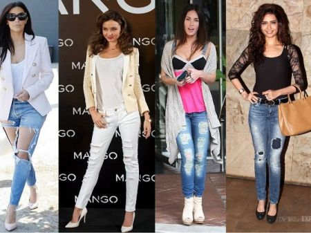 10 Ripped Jeans Style trends created by Celebrities