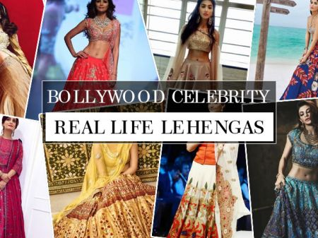 27 Bollywood Celebrity Real Life Lehenga Designs Photos