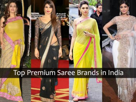 Top Premium (Designer) Saree Brands in India