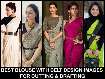 Best Blouse with Belt: Design Images for Cutting & Drafting