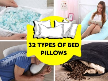 32 Types of Bed Pillows