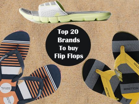 Top 20 Brands to Buy Flip-flops in India