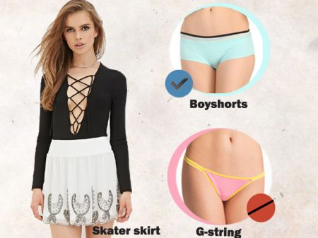 How to wear right type of underwear with different dresses?