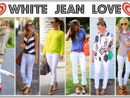 11 Outfits to wear on Women's White Jeans