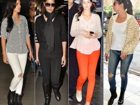 Celebrities with their Flight traveling dressing Styles